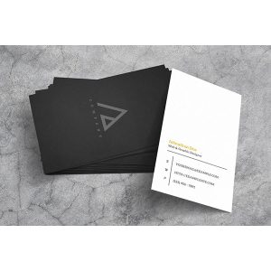 Suede Business Cards
