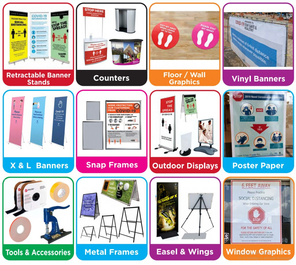 Covid-19 Banners-Signs-Displays